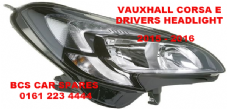 VAUXHALL CORSA  E  HEADLIGHT  DRIVERS SIDE  O/S    DRL TYPE    NEW  NEW (1)